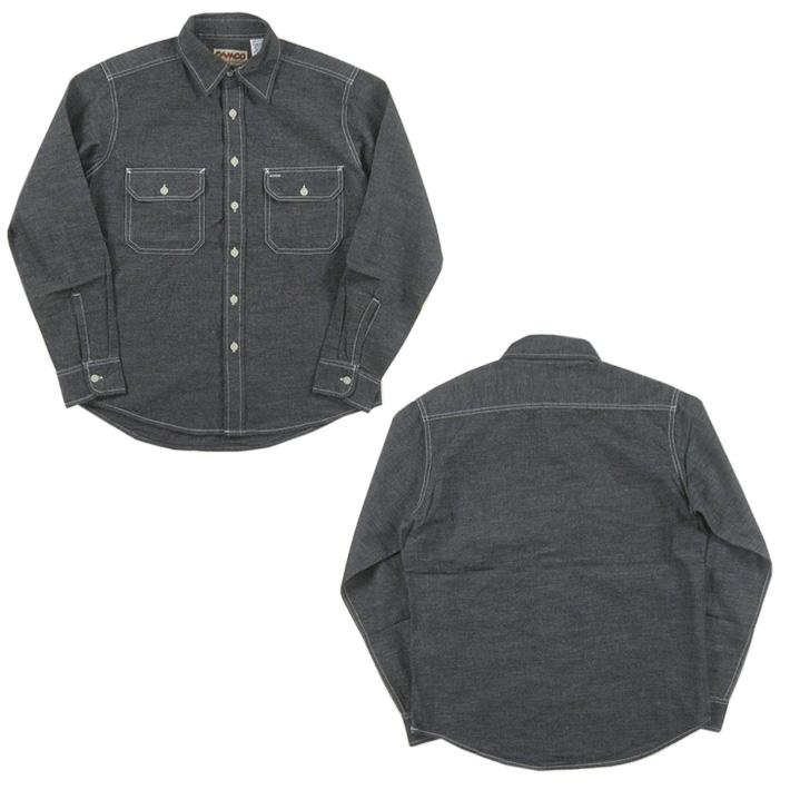 カムコ シャンブレー ワークシャツ