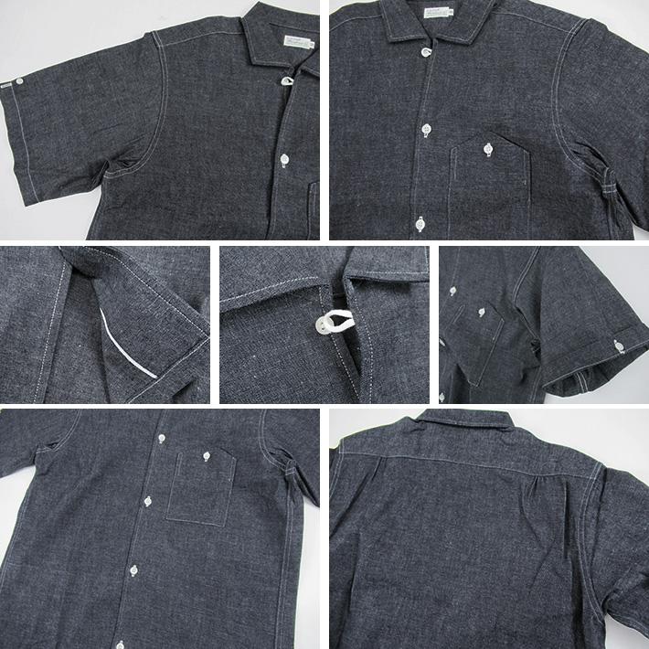 ウエアハウス へリンボーン シャンブレーシャツ